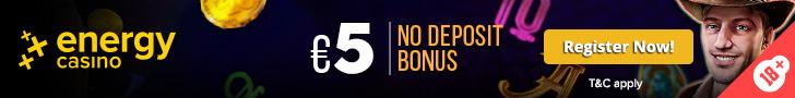 5 EUR No Deposit Bonus - EN - Banner - 728x90