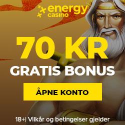 70 NOK Talletusbonus